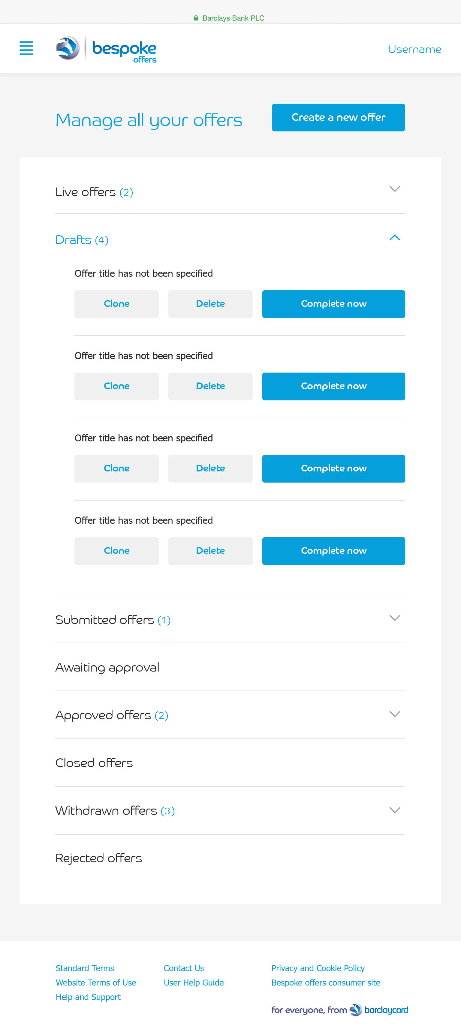 Draft Offers